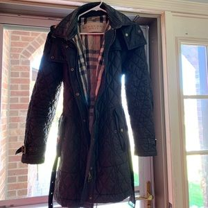Womens Burberry Puffer Trench Coat XL